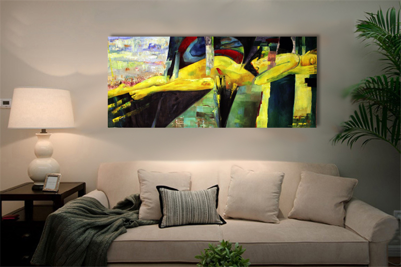 Cityasleep - Fine art print on canvas