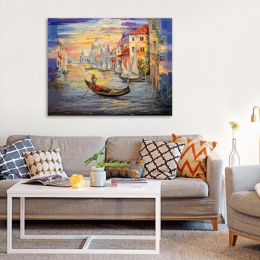 Morning in Venice - Art print on canvas