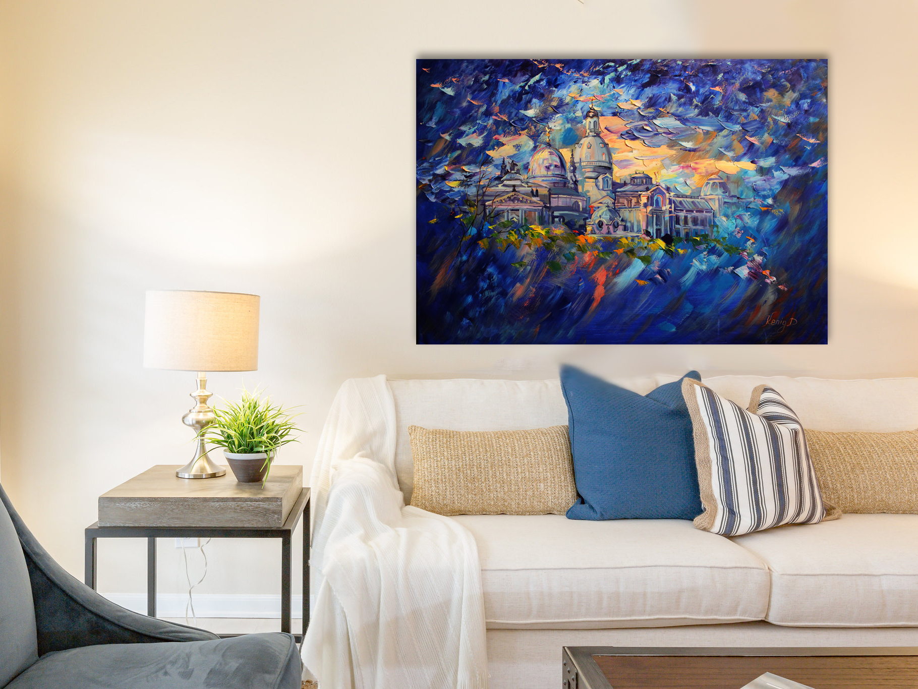 Windy Evening - Art print on canvas