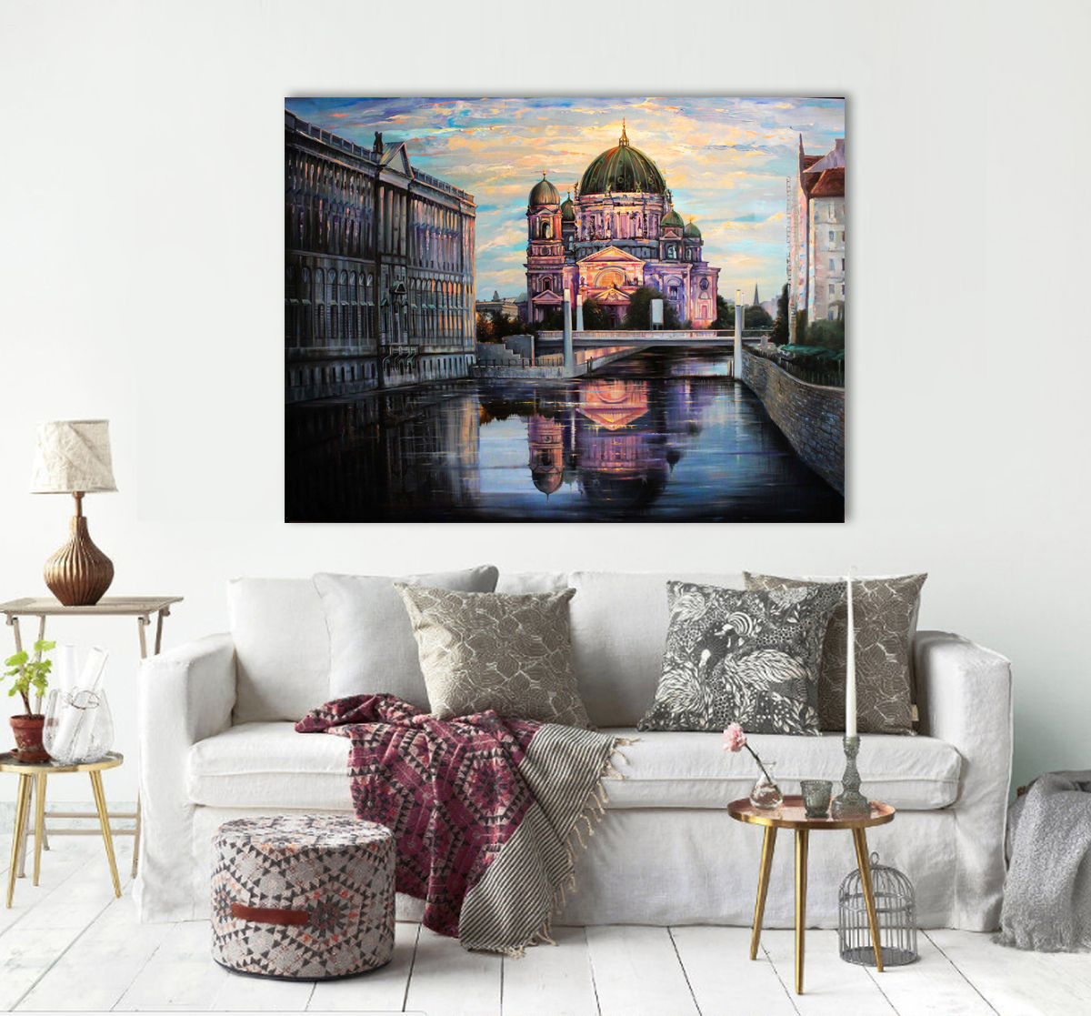 Cathedral in Berlin  - Giclee print
