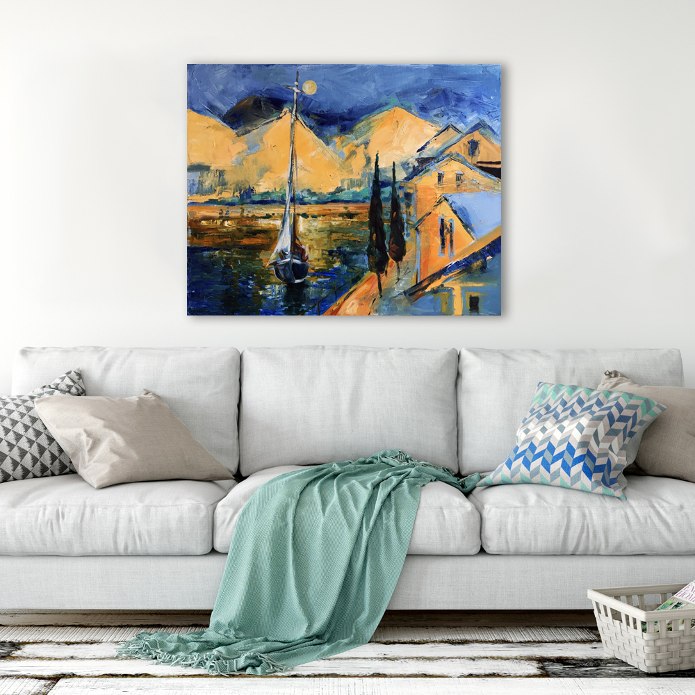 Quiet Harbor - Art print on canvas