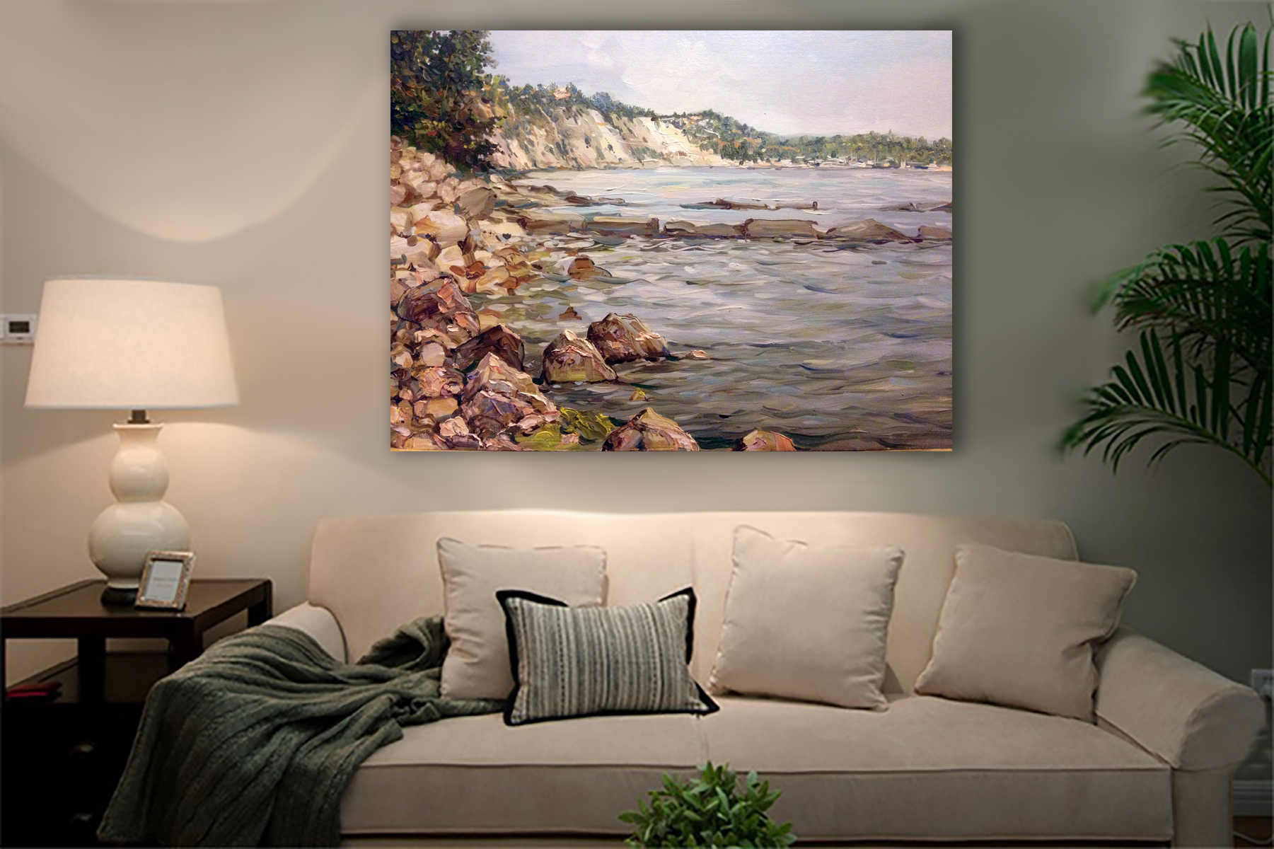 Sea of serenity - Art print on canvas