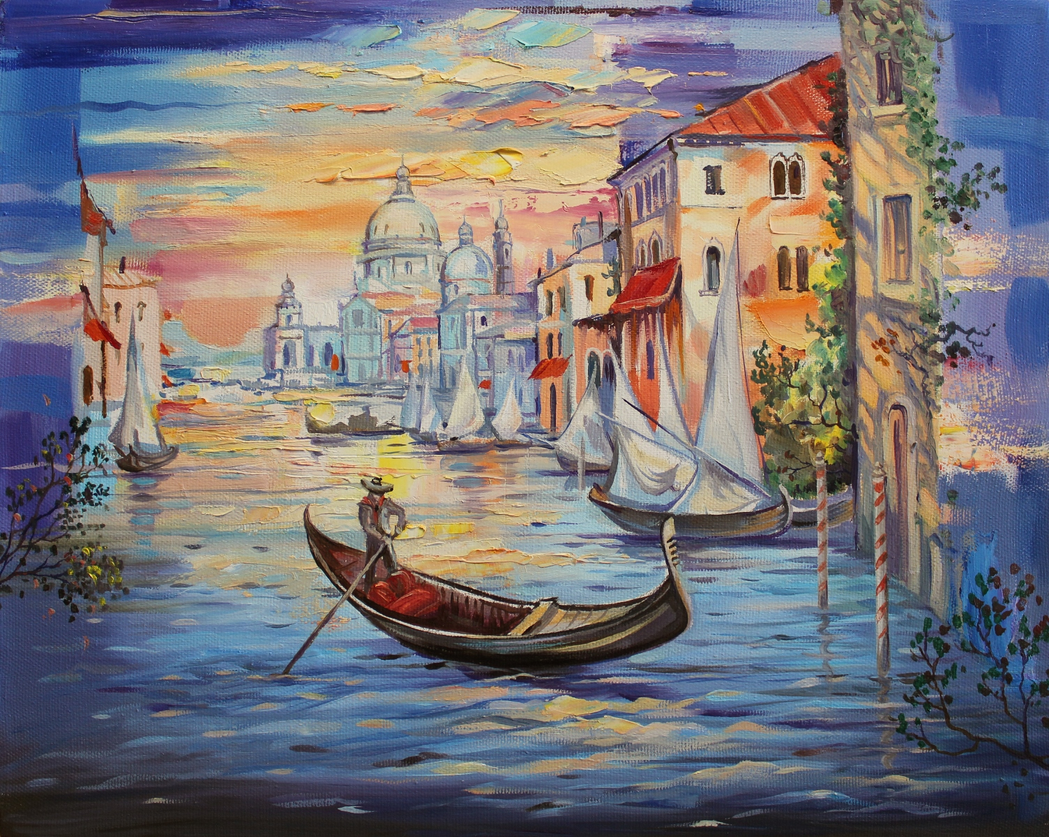 Morning in Venice - Giclee print