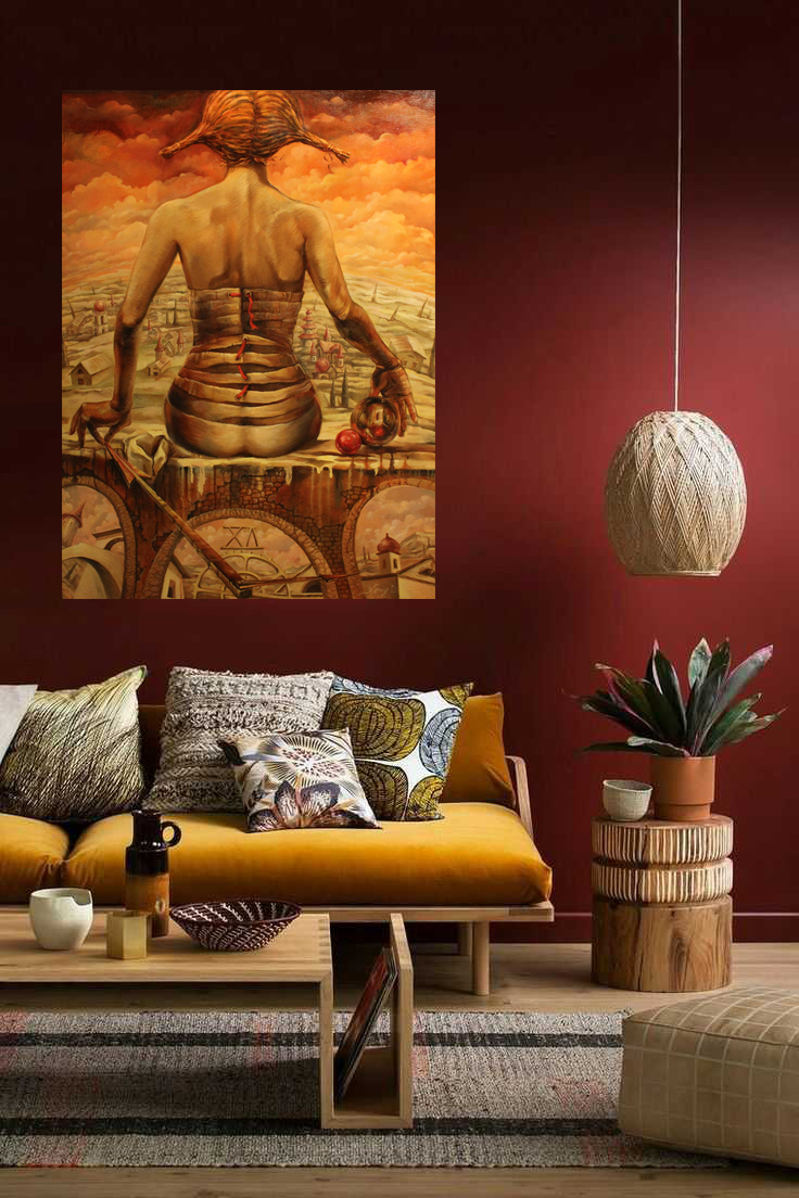 Time - Wall art print on canvas