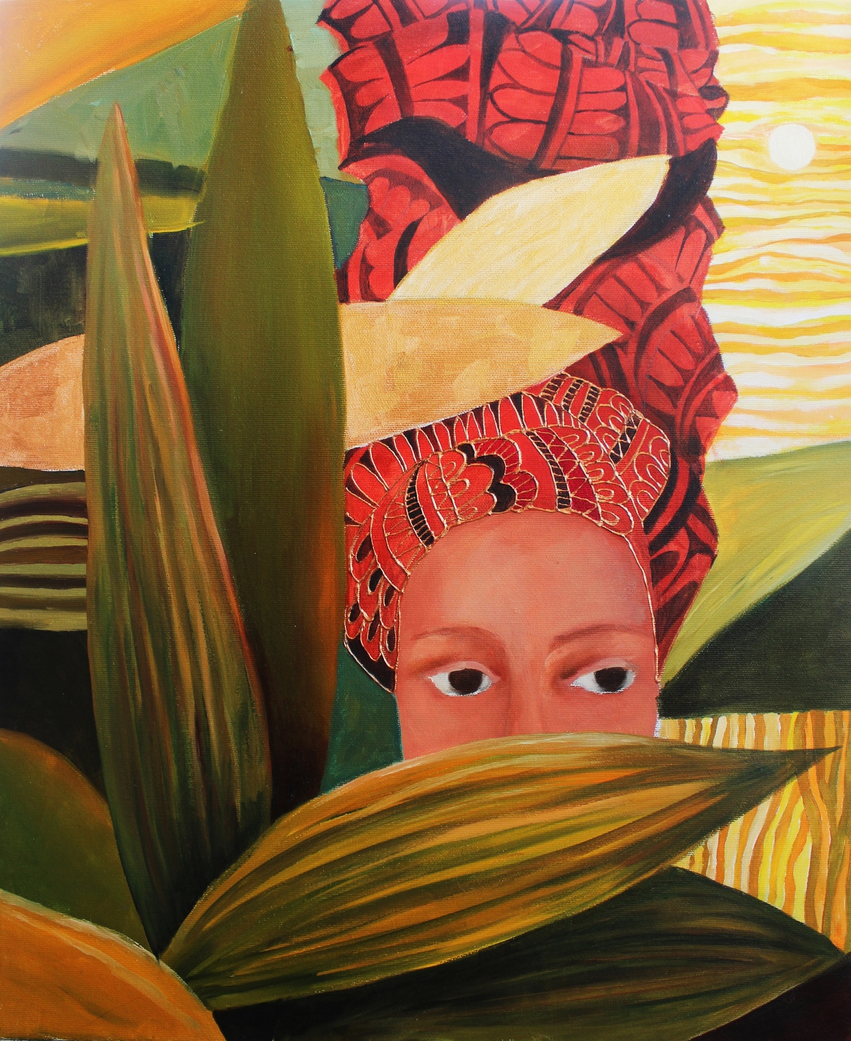 Tropical Lady (40x50cm) Original