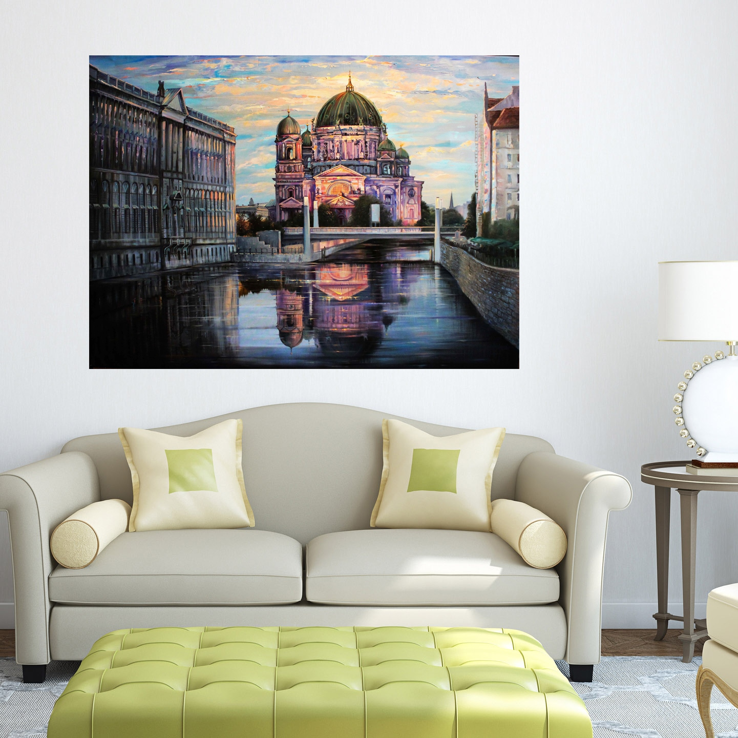 Cathedral in Berlin  - Art print on canvas