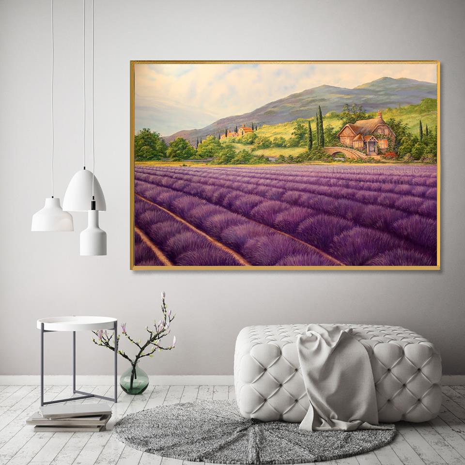 Lavender field - Art print on canvas