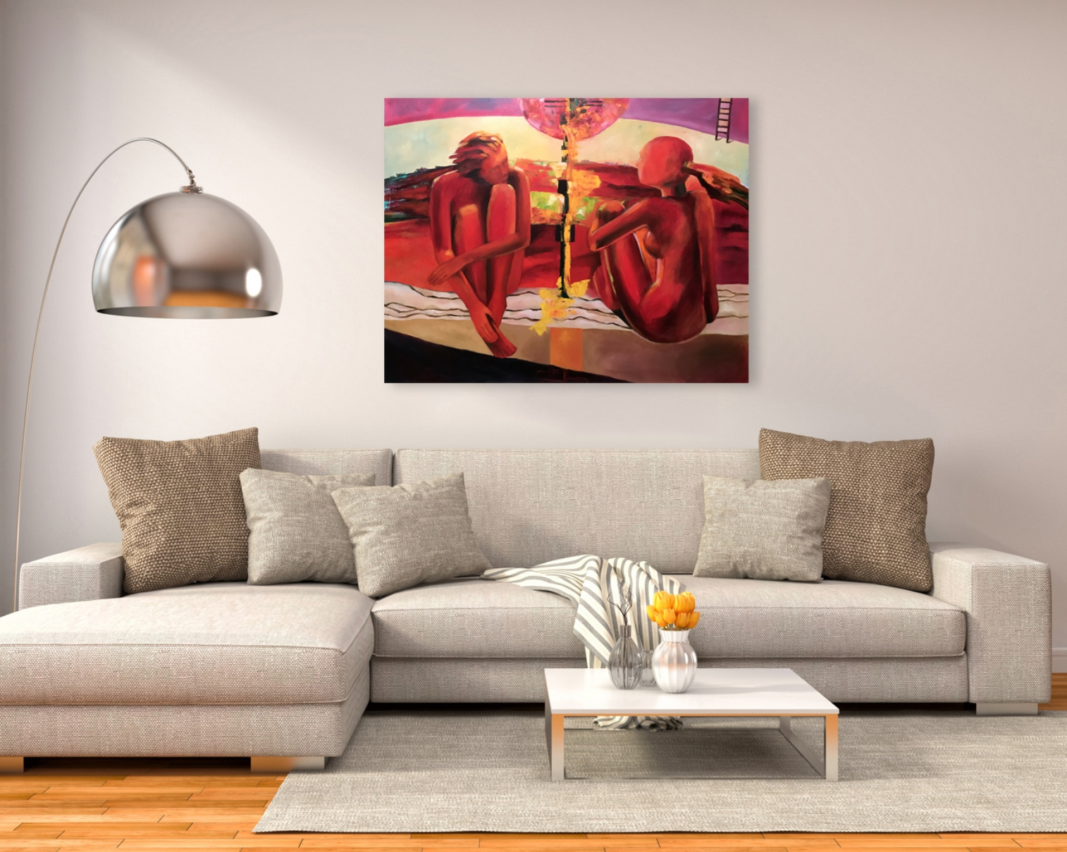 The expectation of a New Life - Art print on canvas