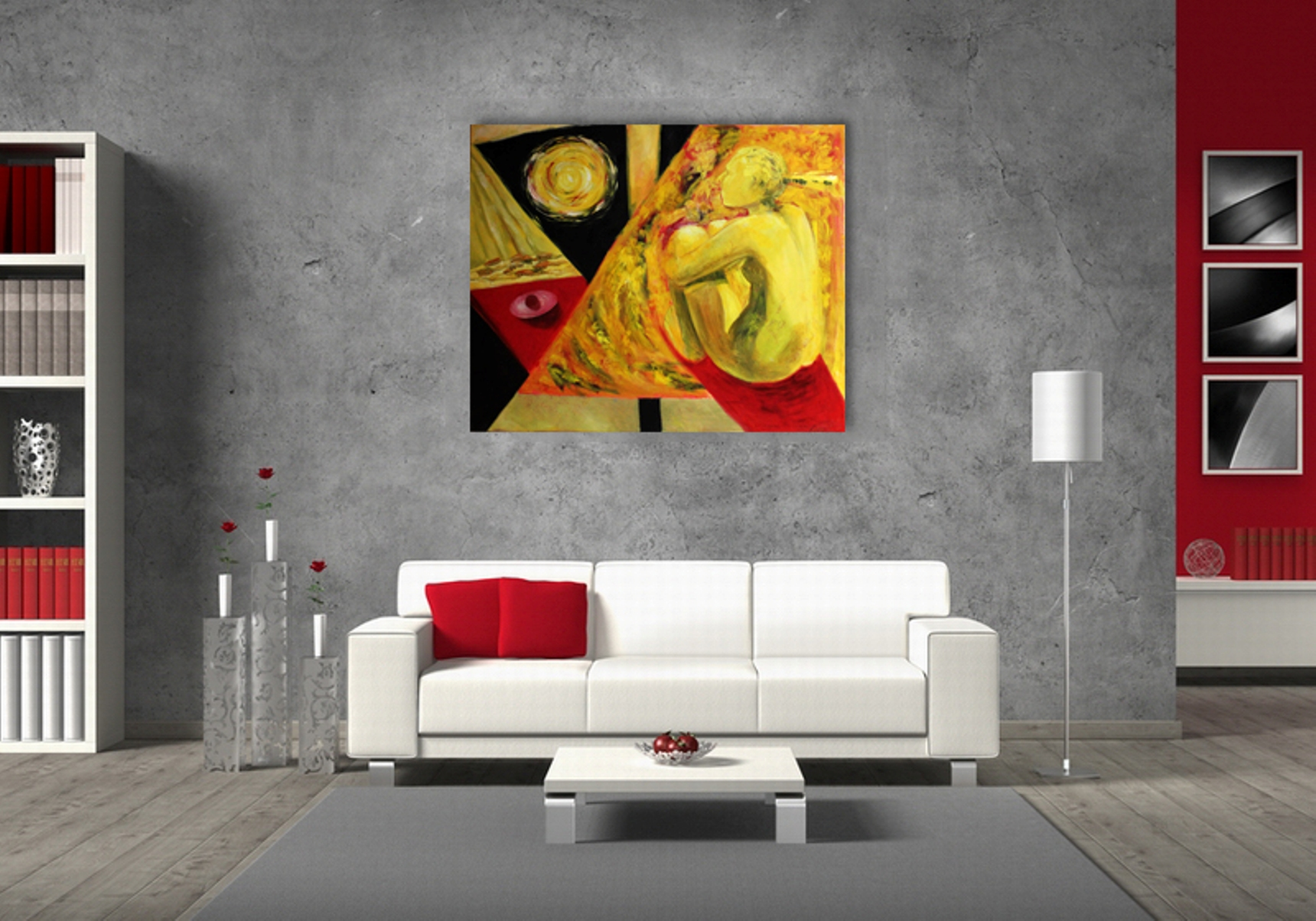 In the Thought - Art print on canvas